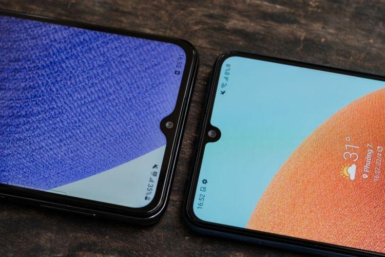 Ilustrasi smartphone Samsung dengan RAM berkapasitas 6 GB.