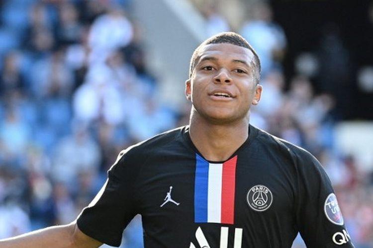Penyerang Paris Saint-Germain, Kylian Mbappe.