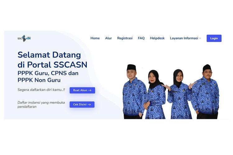 Laman pendaftaran CPNS 2021, www.sscasn.bkn.go.id.