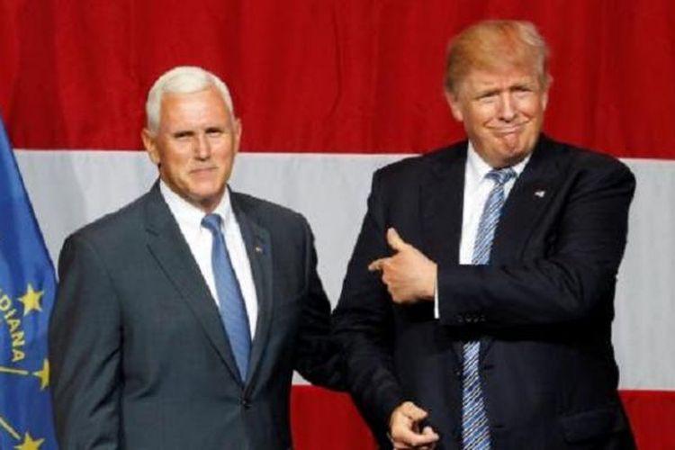 Calon Presiden  Partai Republik Donald Trump dan Cawapres Mike Pence