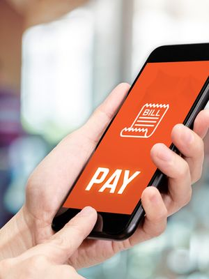 Ilustrasi pembayaran digital.