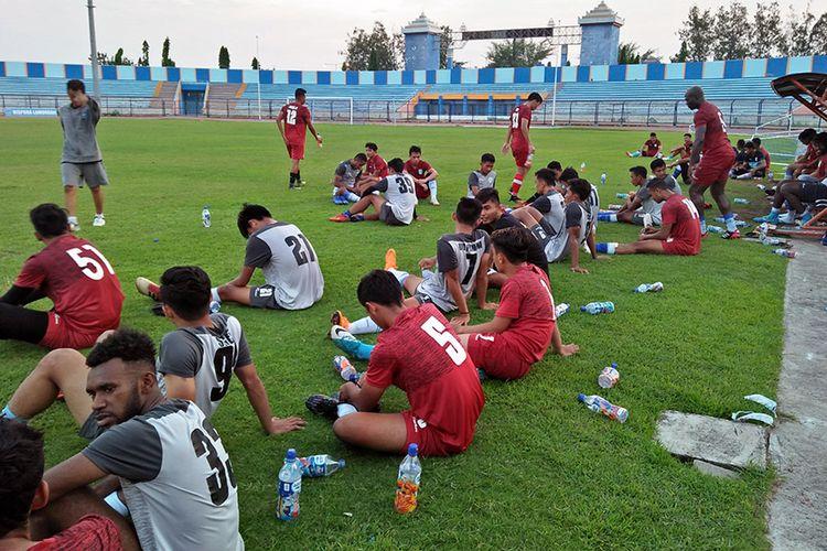 Para pemain yang masih mengikuti seleksi di Persela Lamongan hingga hari terakhir, Rabu (9/1/2019).