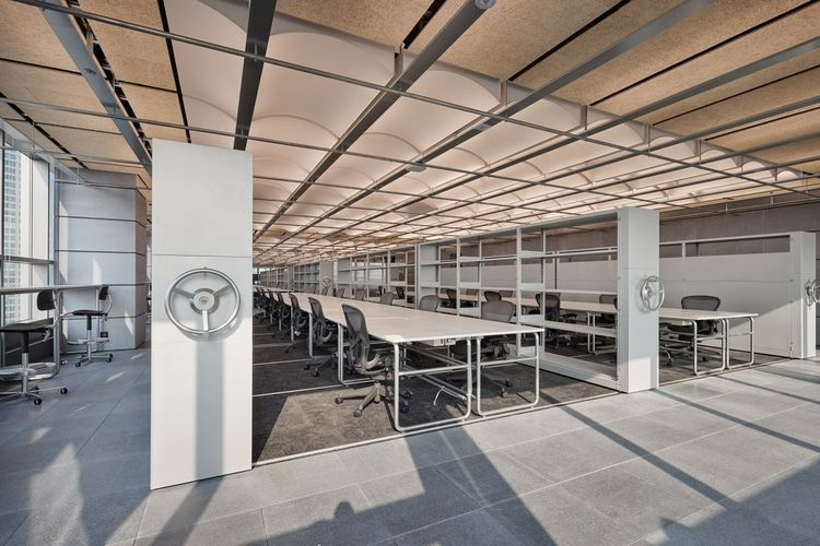 Salah satu ruangan di gedung baru HYBE.