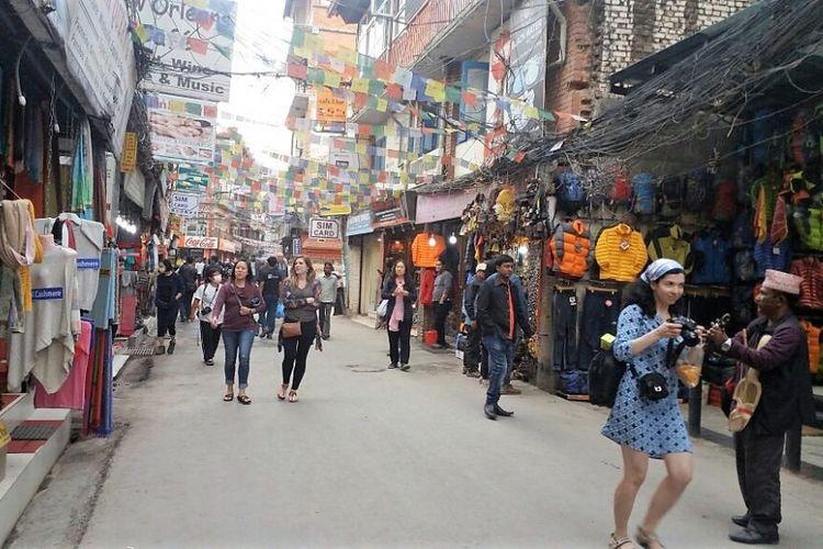 Suasana di Thamel, Kathmandu, Nepal