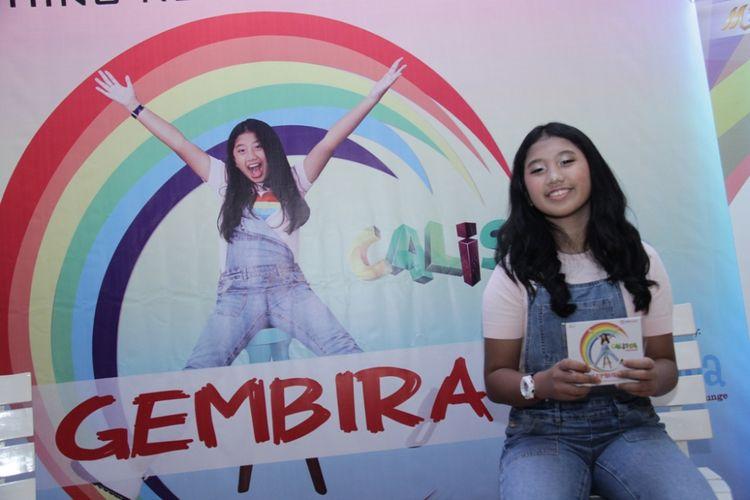 Calista Amadea merilis album Gembira di Jakarta, Rabu (7/3/2017).