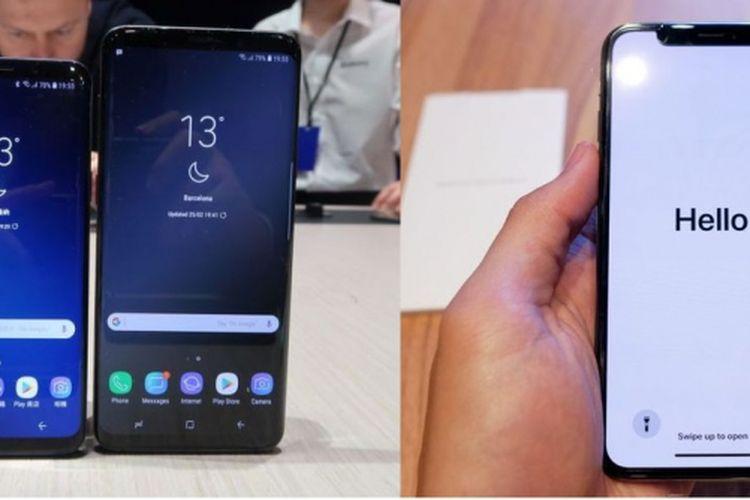 Membandingkan Samsung Galaxy S9 dan iPhone X