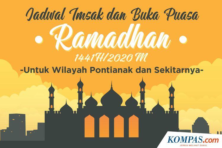 Jadwal Imsak dan Buka Puasa Ramadhan 1441 H/2020 M untuk Wilayah Pontianak dan Sekitarnya