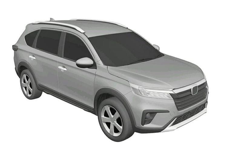 Gambar paten Honda BR-V terbaru