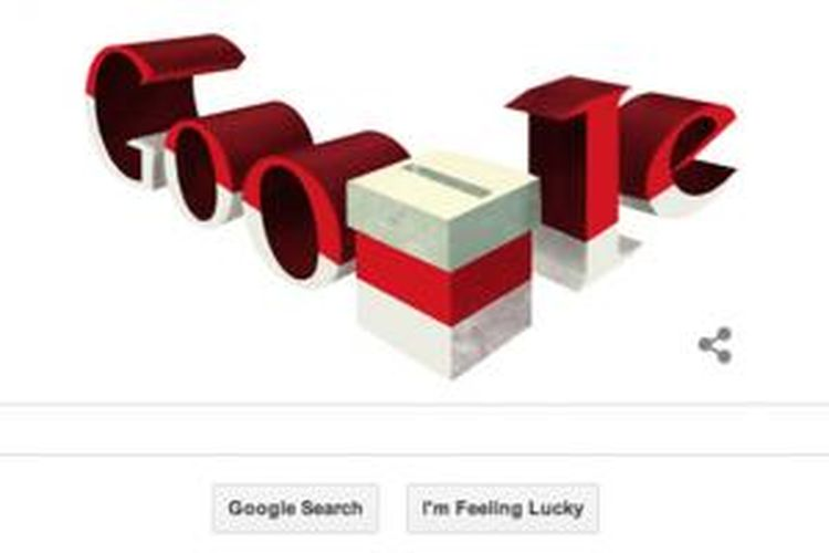Doodle bertema Pilpres 2014 dari Google