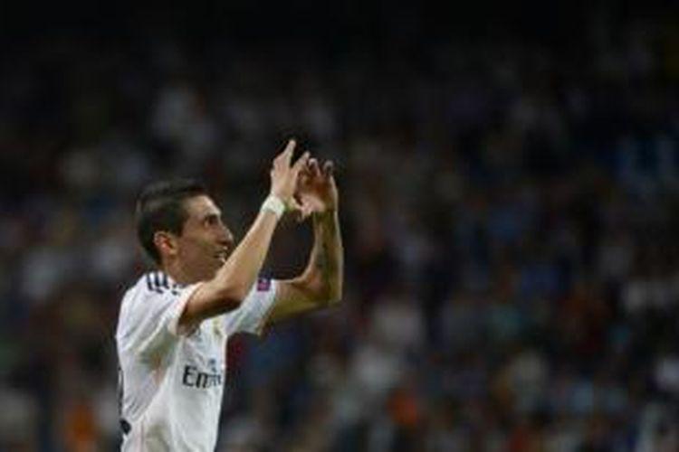 Gelandang Real Madrid asal Argentina, Angel di Maria.