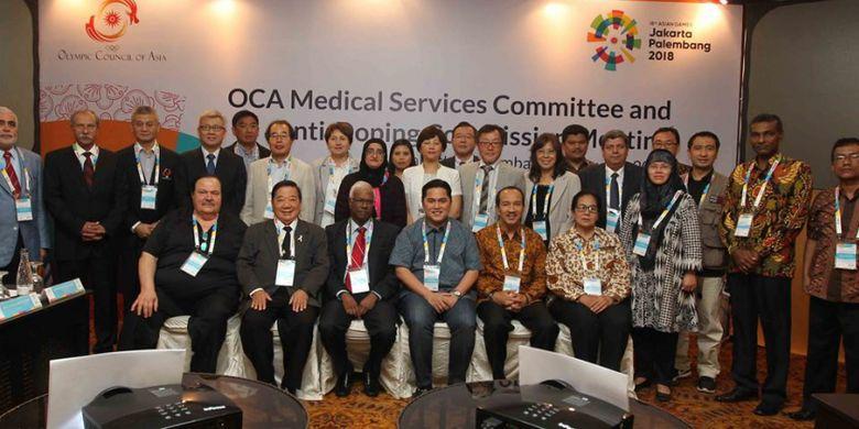 Pertemuan rutin OCA Medical Services Committee & Anti-Doping Commission kembali diadakan pada 4-6 Agustus 2017 di Jakarta dan pada 7 Agustus di Palembang.