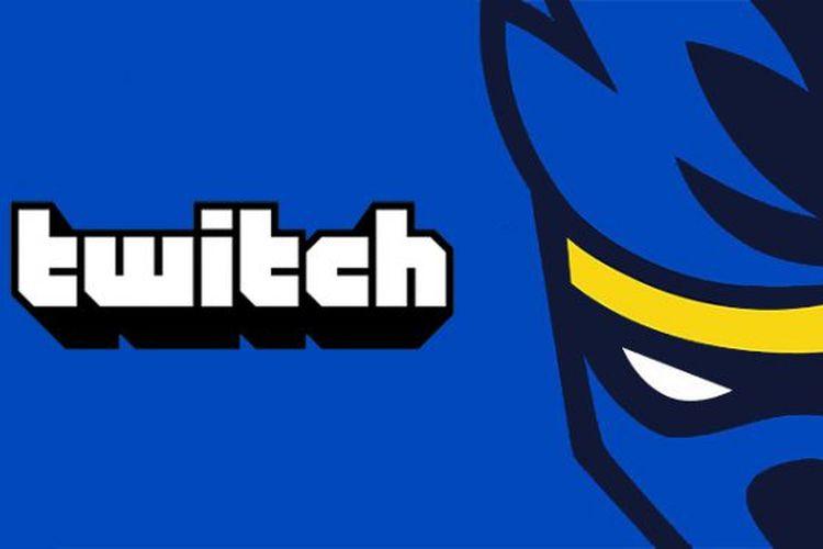Ilustrasi logo Twitch dan Ninja