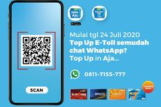 Pertama di Indonesia, Pengguna Tol Bisa Isi Ulang Uang Elektronik via Whatsapp