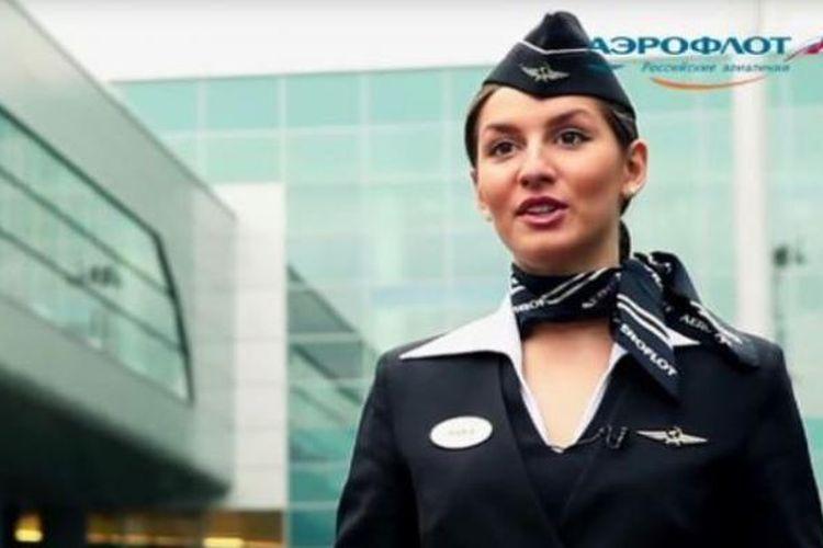 Salah satu promosi maskapai penerbangan Rusia, Aeroflot.