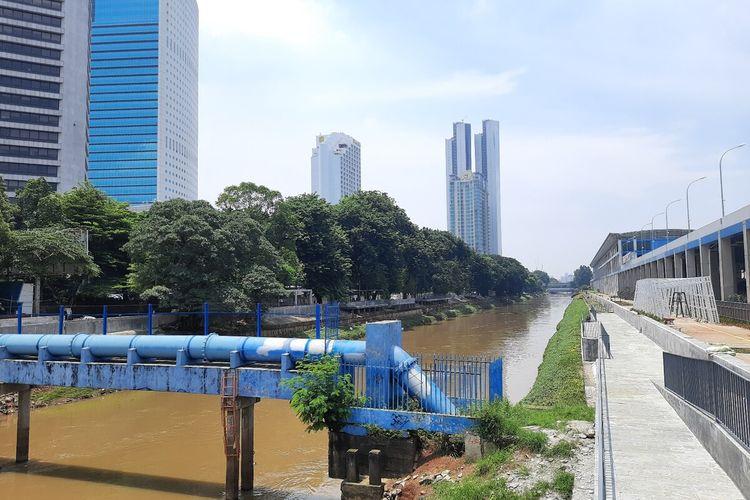 Lokasi naturalisasi segmen Shangrilla-Karet, Jakarta Pusat, Rabu (12/2/2020)