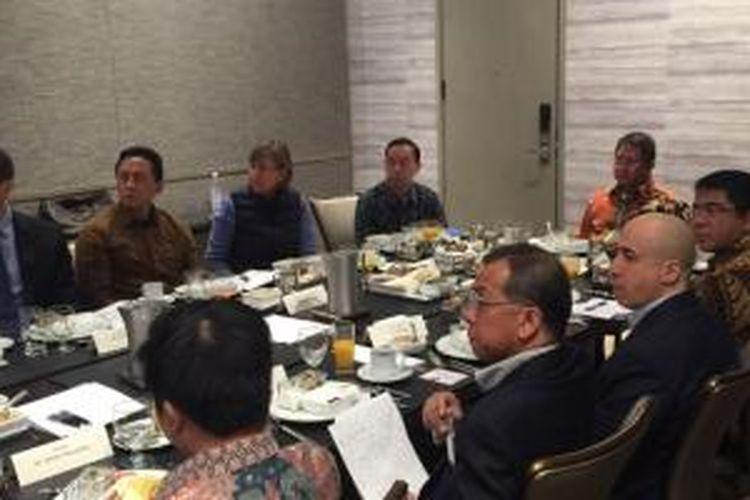 Suasana pertemuan antara tim menteri, startup dengan venture capitalist Amerikas Serikat