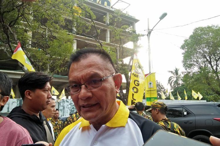 Sekretaris Jenderal Partai Golkar Lodewijk F Paulus di Aula DPP Partai Golkar Jalan Anggrek Nelly Murni, Slipi, Jakarta Barat, Senin (2/12/2019).