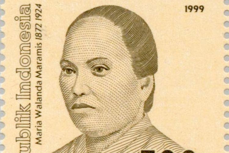 Perangko potret Maria Walanda Maramis