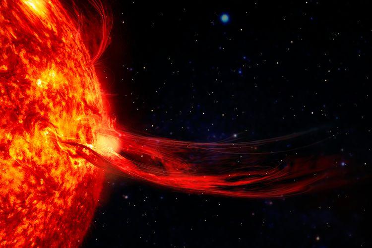 Ilustrasi badai matahari yang ekstrem disebut dapat memengaruhi jaringan internet di Bumi. Badai matahari ini bahkan dapat menyebabkan kiamat internet.