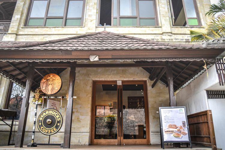 Ilustrasi Starbucks di Ubud, Bali.
