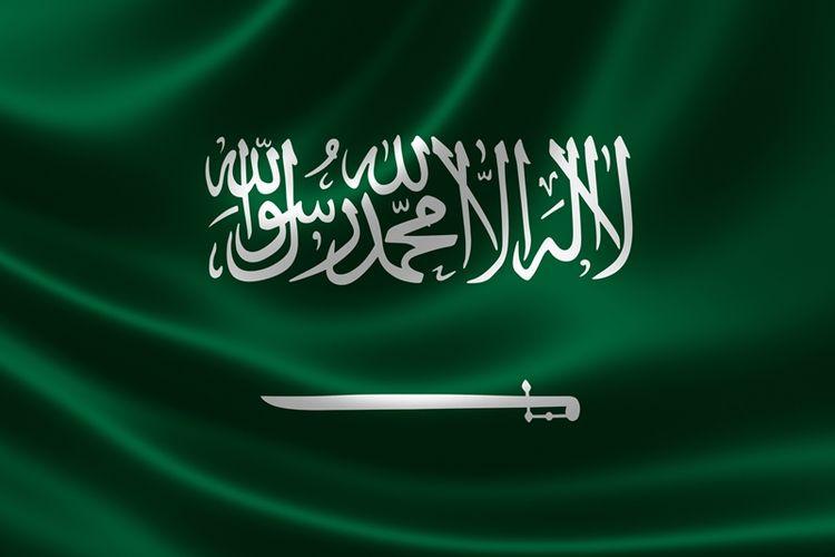 Bendera Arab Saudi.