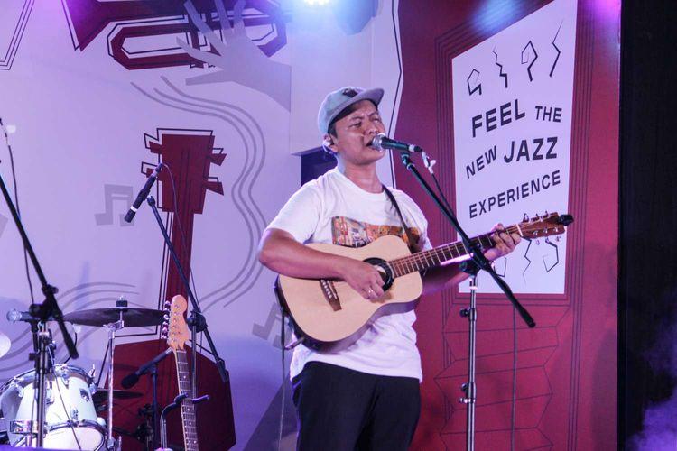 Band Efek Rumah Kaca tampil di Java Jazz Festival 2020 yang digelar di JIExpo, Kemayoran, Jakarta Pusat, Jumat (29/2/2020).