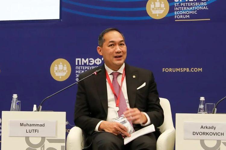 Menteri Perdagangan Muhammad Lutfi saat menghadiri St. Petersburg International Economic Forum (SPIEF) di Rusia.