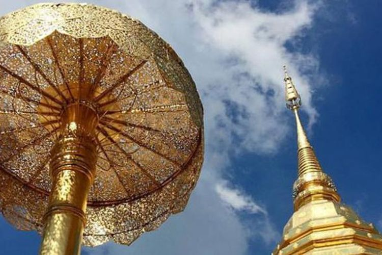 Kuil Wat Phra That Doi Suthep di Chiang Mai, Thailand.