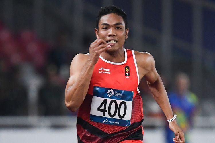 Salah satu penampilan sprinter Lalu Muhammad Zohri dalam Asian Games 2018. Gambar diambil pada 25 Agustus 2018.