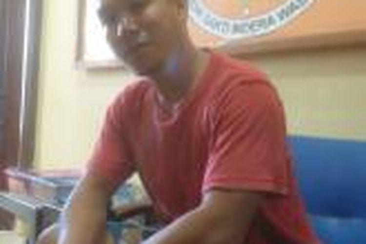 SR, pelaku pencurian di ruangan penyidik Polsek Mandonga, Kendari