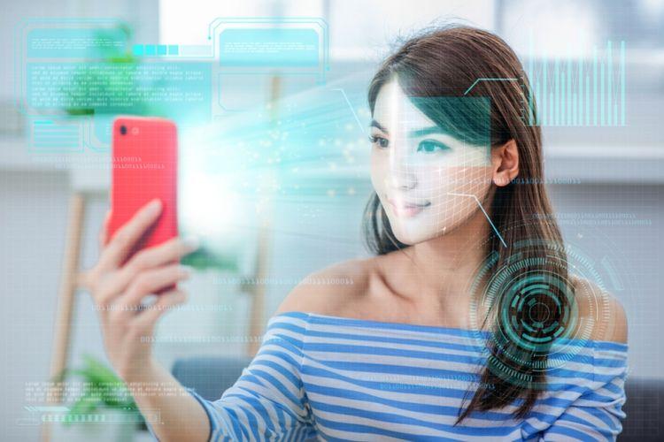 Ilustrasi teknologi rekognisi wajah