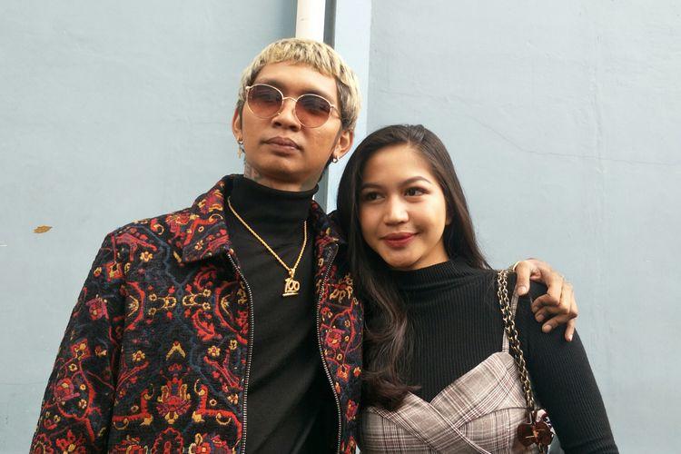 Young Lex dan istri, Eriska, saat ditemui di kawasan Tendean Jakarta Selatan, Kamis (6/2/2020)