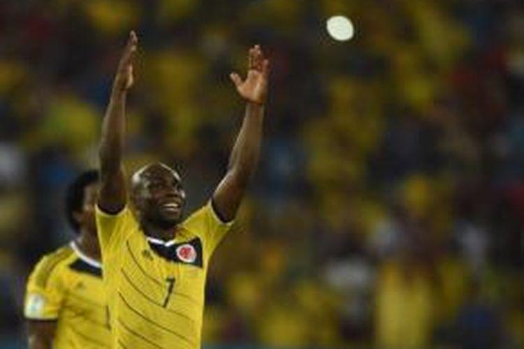 Gelandang tim nasional Kolombia, Pablo Armero.