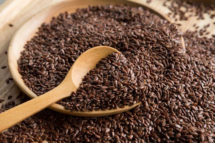 Ilustrasi flaxseed atau biji rami