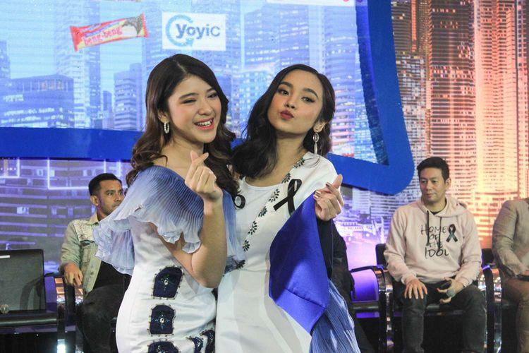 Tiara dan Lyodra saat di temui di Press conference Grand Final Indonesian Idol musim X yang diadakan di MNC studio tower, Kebon Jeruk, Jakarta Rabu ( 19/2/2020). Tiara dan Lyodra melaju ke babak Grand final.