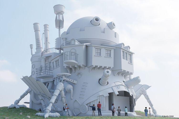 Replika kastil Howl's Moving Castle di Studio Ghibli Theme Park, Jepang (dok. Studio Ghibli Theme Park).