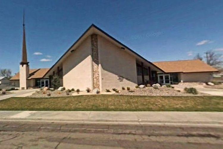 Suasana Gereja Orang Kudus Akhir Zaman di Fallon, Nevada, Amerika Serikat. Pada Minggu (22/7/2018), terjadi penembakan yang menewaskan satu orang dan melukai seorang lainnya tersebut.