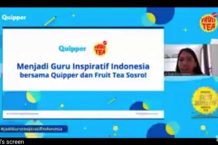 Ruth Ayu Hapsari saat menjelaskan kompetisi bertajuk Apresiasi Guru Inspiratif Indonesia 2020.