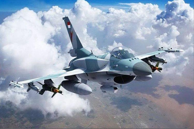 Gambar rekaan F-16 Block 72 (F-16V) dengan camo/livery TNI-AU.