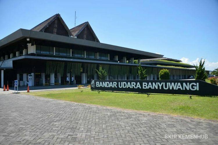 Suasana Bandara Blimbingsari Banyuwangi pada Sabtu (24/4/2021).