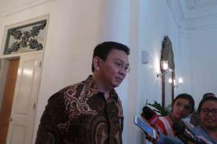 Gubernur DKI Jakarta Basuki Tjahaja Purnama di Balai Kota DKI Jakarta, Jumat (22/7/2016).