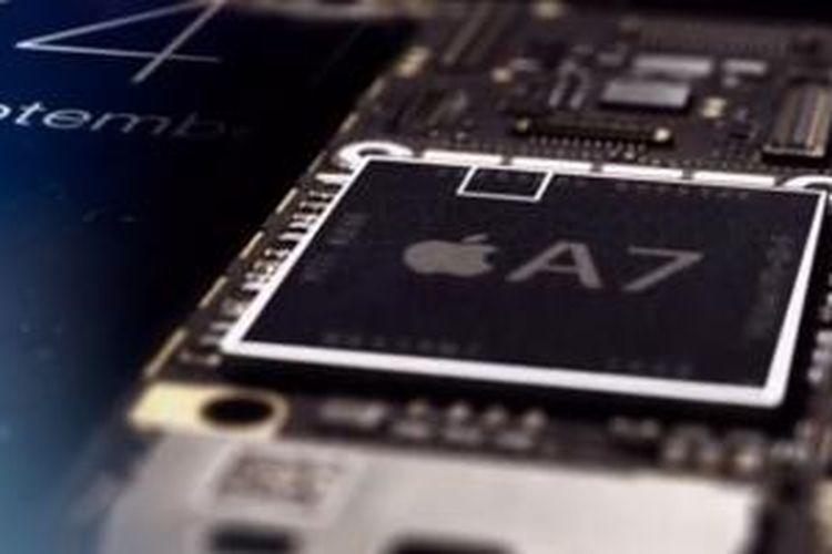 Data sidik jari pengguna dienkripsi dan dikunci dalam prosesor Apple A7