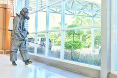 Bandara Internasional Lombok Disemprot Cairan Disinfektan