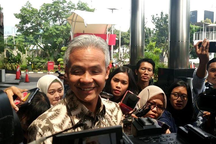 Gubernur Jawa Tengah Ganjar Pranowo di Gedung Komisi Pemberantasan Korupsi (KPK), Jakarta, Jumat (10/5/2019)