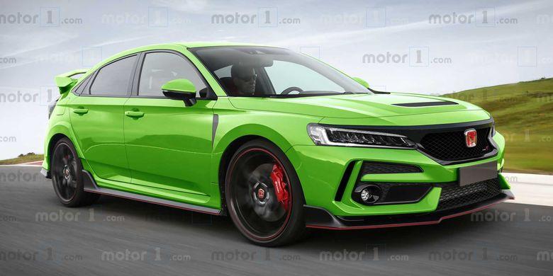 Ilustrasi Honda Civic Type R generasi terbaru