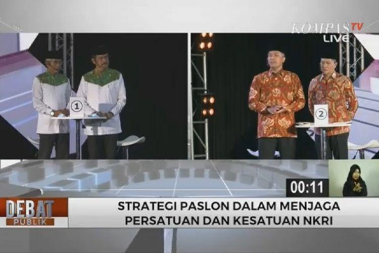 Suasana Debat Pilkada Wonogiri yang menghadirkan dua paslon Hartanto-Joko Purnomo dan Joko Sutopo-Setyo Sukarno