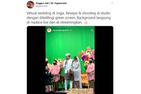 Viral Video Virtual Wedding dengan Green Screen di Yogyakarta, Ini Cerita Lengkapnya...