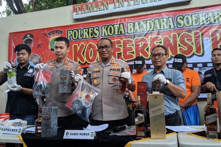 Barang bukti yang berhasil disita Polres Bandara Soekarno-Hatta, Kamis (30/1/2020)