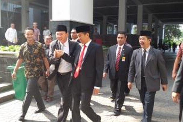 Gubernur dan Wakil Gubernur DKI Jakarta Joko Widodo dan Basuki Tjahaja Purnama di Balaikota, Jakarta, Jumat (26/9/2014)
