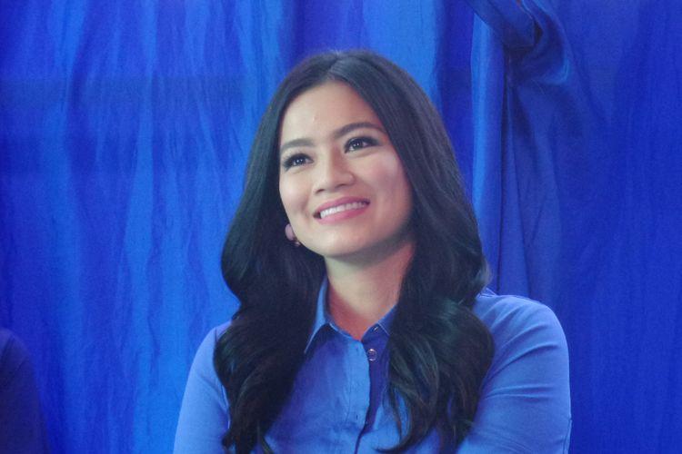Aktris Titi Kamal saat menghadiri sebuah talkshow bersama Lactogrow di Multivision Tower, Kuningan, Jakarta Selatan, Jumat (27/7/2019).